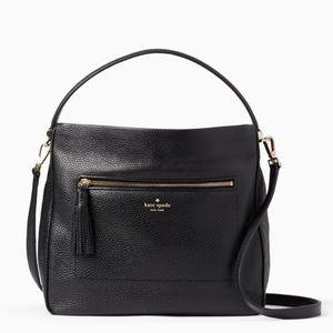 NWOT Kate Spade Michaela black hobo bag